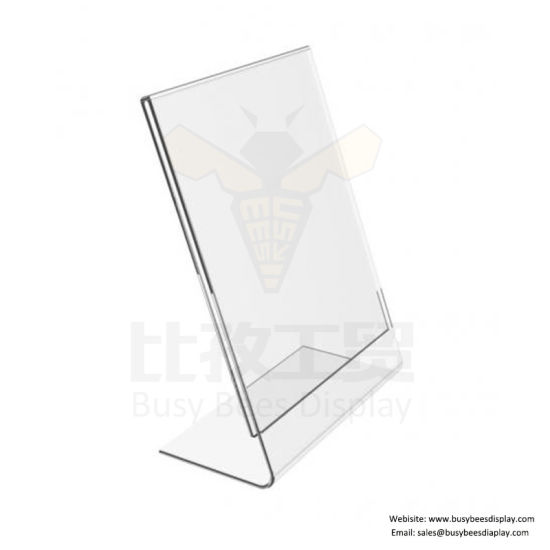 New Arrival Tabletop Menu Display Stand A4 Clear Acrylic Sign Holder