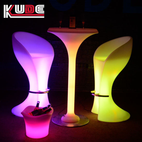 China Light Up Led Table Rgb Bar Furniture Outdoor