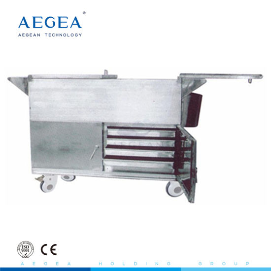 Ce ISO with Heated Stainless Steel Hospital Food Trolley Cart