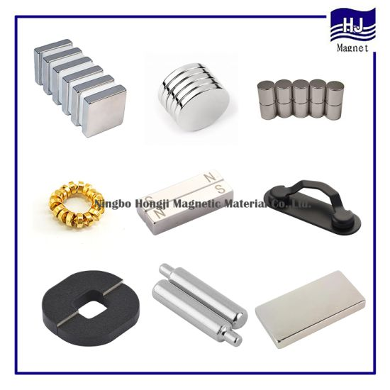 Different Shape of Rare Earth Permanent Neodymium Magnet Cylinder Square Block NdFeB Magnetic Material