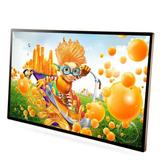 55 Inch All in One Touch Digital Signage 1080P Touch Screen Advertising Display Windows Media Player Smart TV