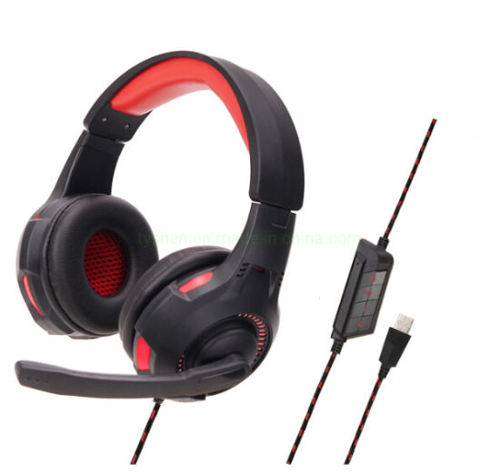 Computer Gaming Headset, Classic Design, with Microphone, Volume Control&LED Lighting pictures & photos
