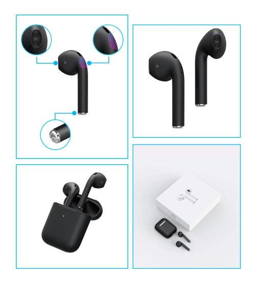 Wholesale Earphones Headphone I30 I60 I100 I200 Audifonos Wireless Bluetooth OEM Touch 50 Earbuds Tws I23 Headset