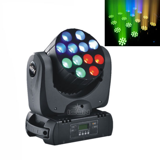 Stage DJ 12X10W RGBW LED Moving Head for Events Lighting