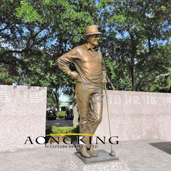 Golf Course Statue Life Size Bronze, Outdoor Golf Statues