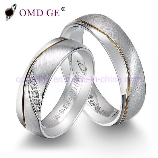 Pure 925 Sterling Silver Wedding Band Male Female Jewelry pictures & photos