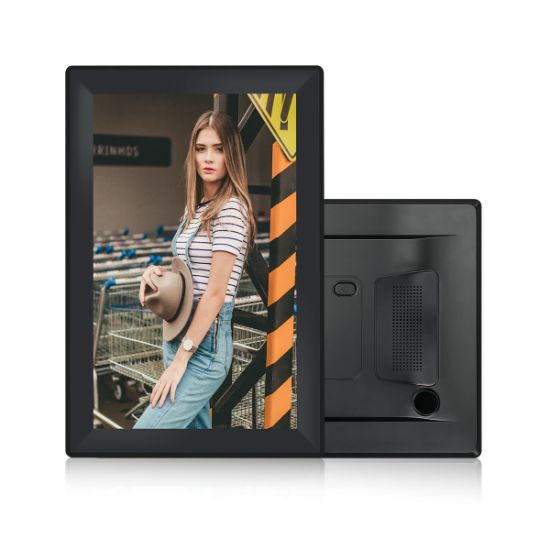 """10"""" LED 1280*800 Digital Panel Picture Audio IPS LCD Photo Frame with Speaker"""