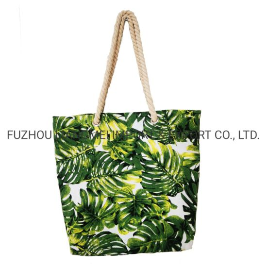 OEM &ODM Promotion Leisure Style T-Shape Canvas Transfer Printing Tote Bag Dailybag Beach Bag pictures & photos