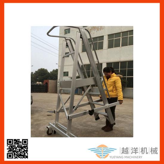 Aluminum Step Telescopic Platform Castellar Moveable Scaffolding Folding Ladder