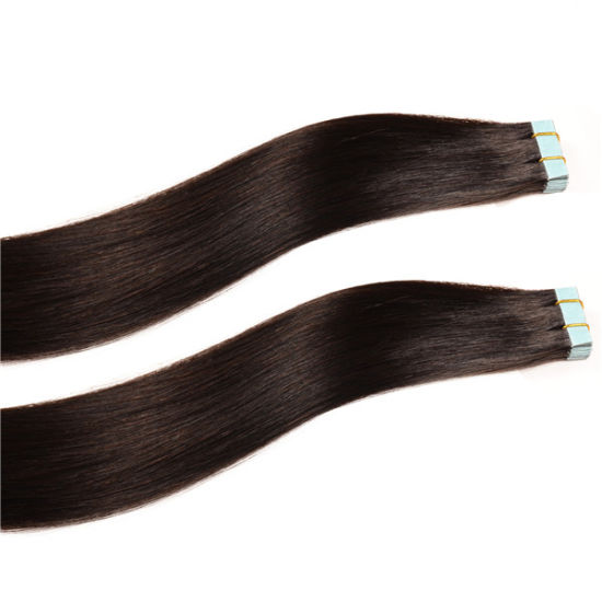 "20"" 100gram Full Head Tape Hair Extensions Free Sample pictures & photos"