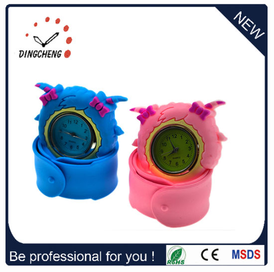 Fashion Wristwatch Quartz Silicone Slap Kids Watch (DC-716) pictures & photos