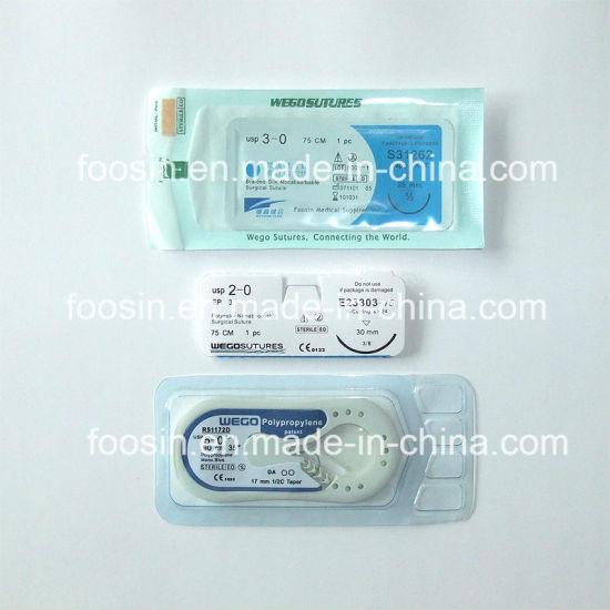 Silk Surgical Sutures Non-Absorbable Surgical Sutures pictures & photos