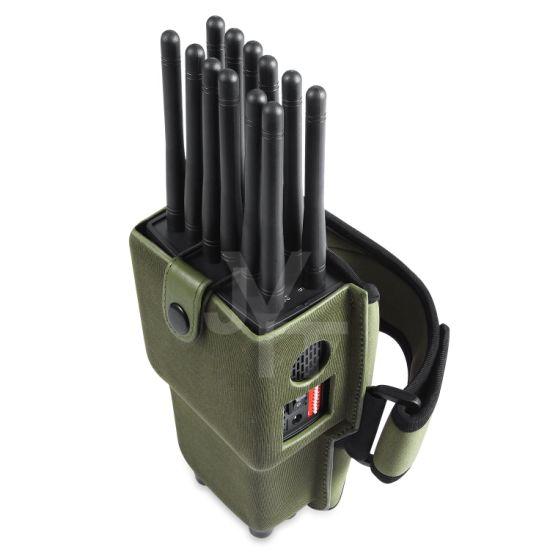 Portable Handheld 12 Bands All-in-One Cell Phone Signal Jammer Blocking GPS WiFi Dsm CDMA