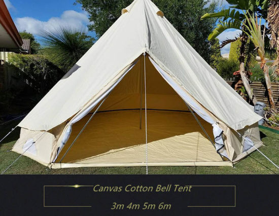 Playdo 100% Cotton Canvas 5m Bell Tent - Zipped in Ground Sheet C&ing Tent & China Playdo 100% Cotton Canvas 5m Bell Tent - Zipped in Ground ...