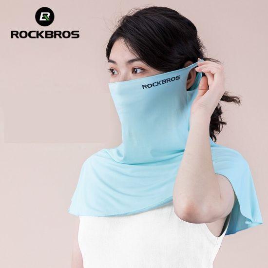 Cycling Face Mask Anti-UV 360° Fully Coverage Ice Silk Mask Summer Neck Brace Women Men Shawl Moisture Wicking Scarf