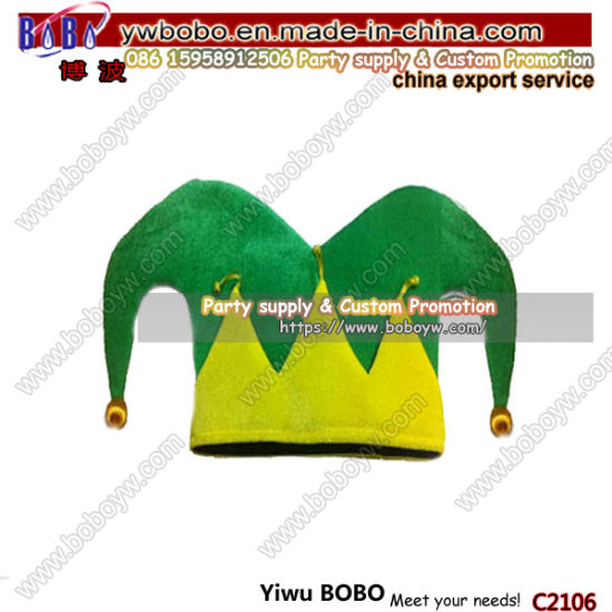 Custom Football Fans Party Hats Wholesale World Cup Crazy Soccer Fans Hats Party Items (C2106)