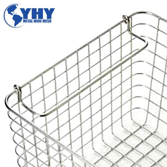 480L X 250W X 50h mm Metal Wire Shopping Basket