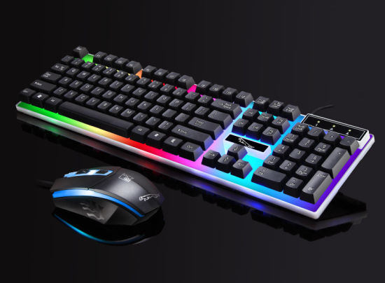 LED Wired Gaming Keyboard and Mouse Set for High Performance Gaming Using  Desktop PC Laptop and Smart TV