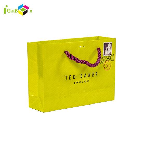 Custom Printed Paper Carrier Bag for Shopping