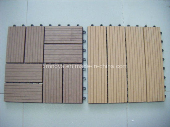 Synthetic WPC DIY Decking Flooing Tiles for Outdoor Floor Decorative pictures & photos