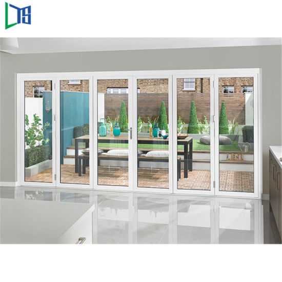 China Aluminum Alloy Sliding Folding Door Interior Door Section