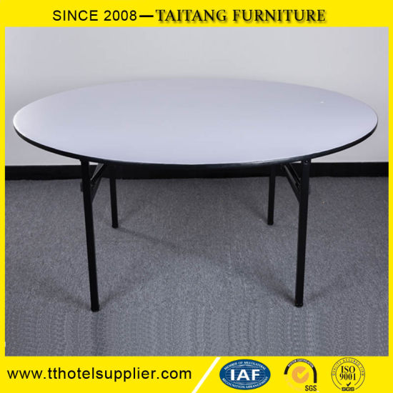 Cheap Hotel Furniture Banquet Folding Round Plywood Table pictures & photos