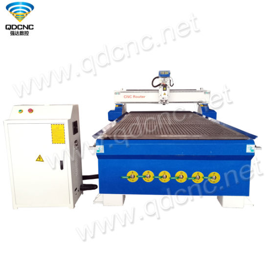 China Wood CNC Cutting Router with 4.5kw Water Cooling, DSP A11s Qd-1530b