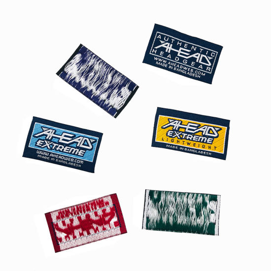 Custom Designier Own Sewing Brand Logo Polyester Woven Tags Labels for Clothing