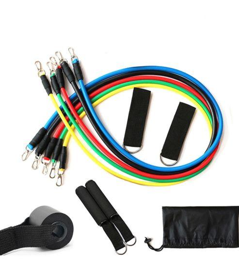 Dfaspo Resistance Tube Set 11PCS 100lbs Elastic Puller
