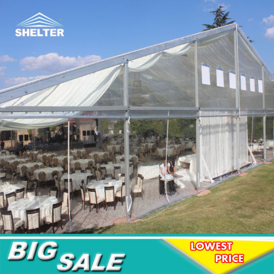 [Hot Item] 20X30 Guangzhou Wholesale Cheap Clear Roof Outdoor White  Transparent Inflatable Indian Marquee Party Wedding Tent with Floor  Decoration Hot