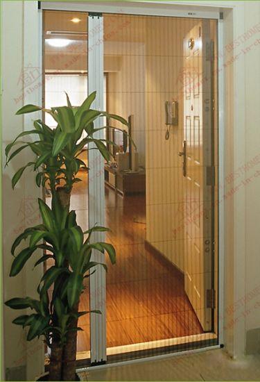Durable Aluminium Sliding Steelwire Insect Screen Door (BHN FD01)
