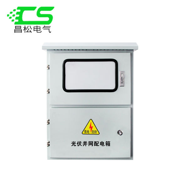 outdoor stainless steel distribution box photovoltaic grid box upper and  lower door three-phase meter metering box