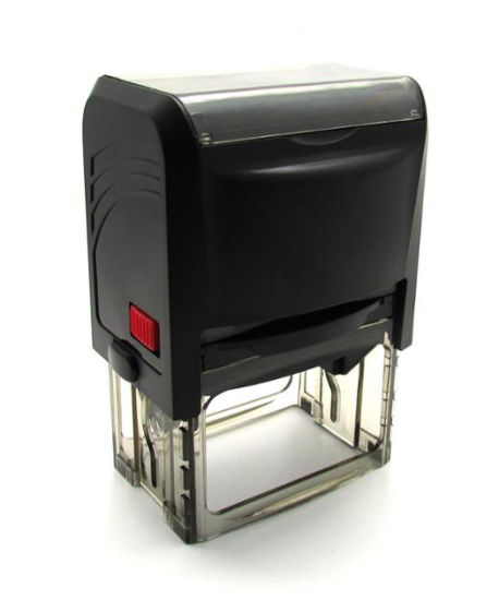Sample Self Inking Rubber Stamp Office Stationary Custom Shiny Stamp