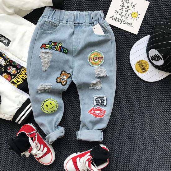 Wholesale Cool Kids Boy Jeans Pants Baby Boy Clothes