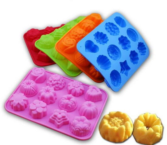 Wholesale FDA Approved Food Grade Cake Silicone Mold Silicon 12 Cavities Chiffon Cake Mould