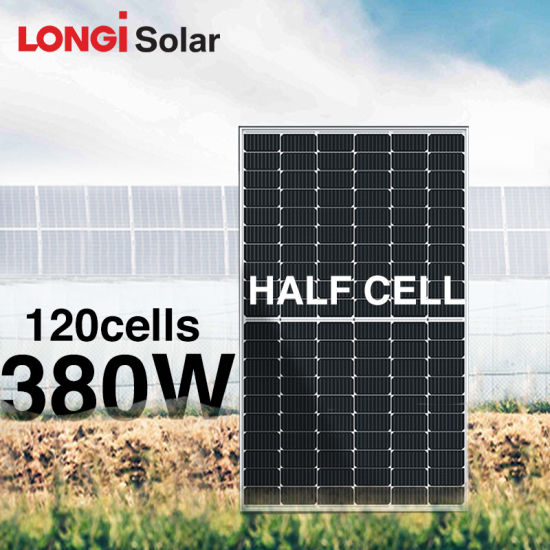 Longi Solar Half Cell PV Panels 360W 365W 370W 380W Mono Perc Solar Panel
