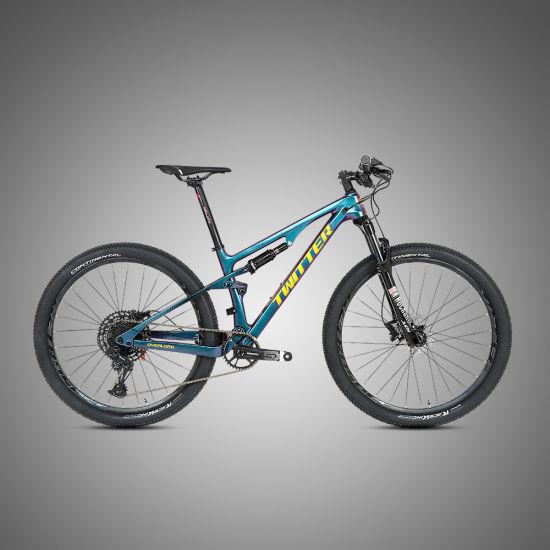 Shimano Xt 24s 29er Carbon Full Suspension Mountain Bike with Rockshox-Recon Fork