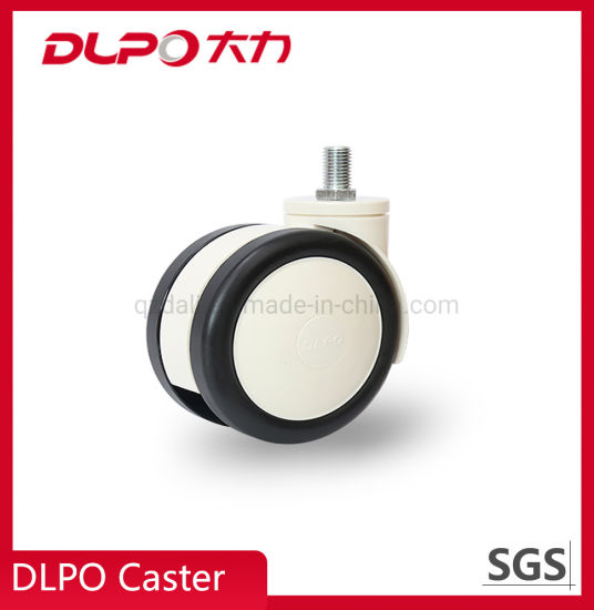China Manufacturer Plastic PU Twin Wheels Medical Castor