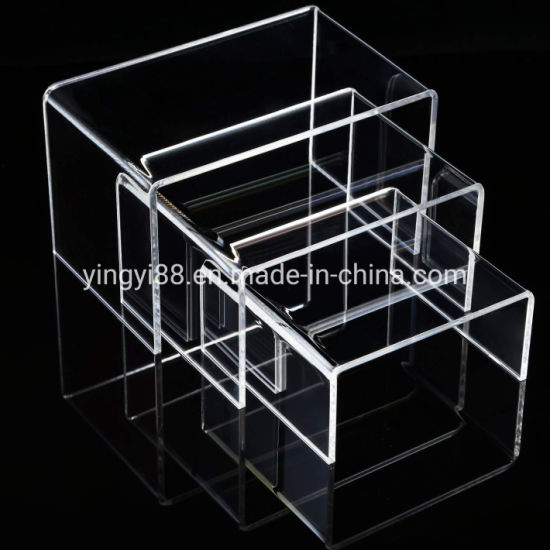 "~#4/"" x 4/"" x 4/"" Wholesale Clear Acrylic Plastic Risers Display Stand Pedestal"
