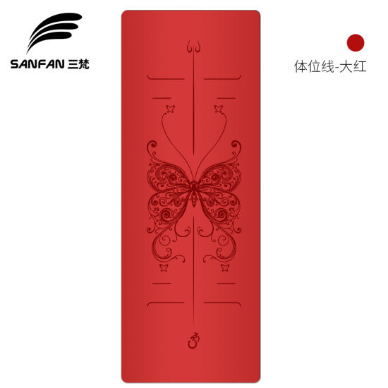 Factory Wholesale PU Leather Natural Rubber Yoga Mat