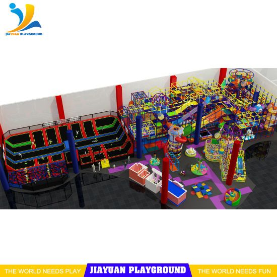 Indoor Playground Equipment Trampoline Park Layout for Sale