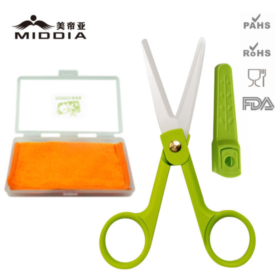 Ceramic Kitchen Food Scissors with Sheath and Baby Spoon Set pictures & photos