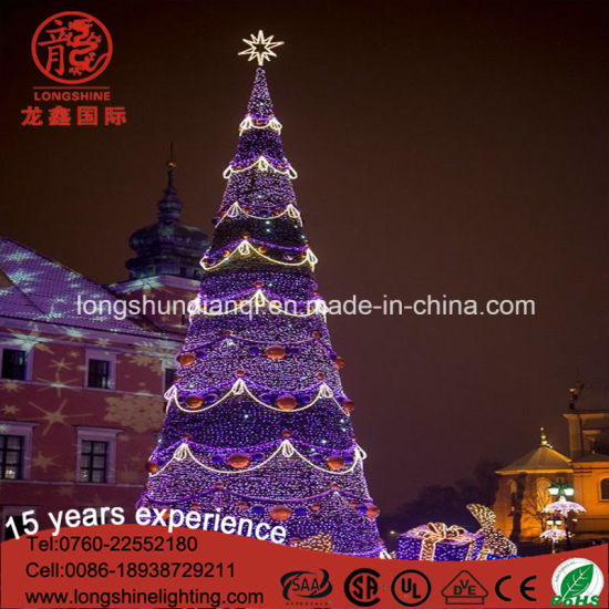China Led Light Up Gaint Tree Steel Frame 12m6m Christmas Light