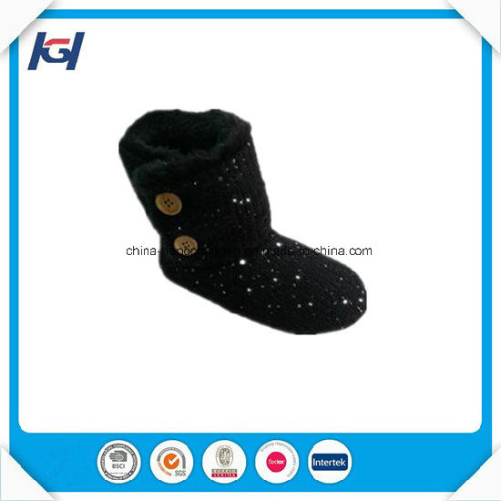Colorful Knitted Women Winter Indoor Slipper Boots Wholesale pictures & photos