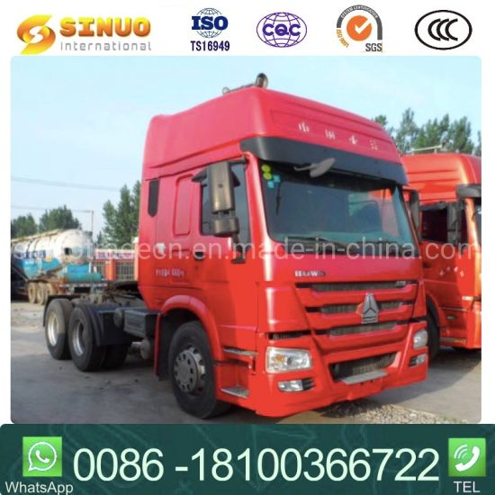 Used 371HP375 6X4 Sinotruk HOWO 10X Tyres Tractor Truck Heavy Duty Truck Trailer Head Tractor Head Truck Low Price Excellent Condition