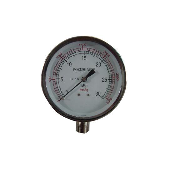 "Factory Price 80mm 3.5"" 30kpa Capsule Bellows Pressure Gauge"