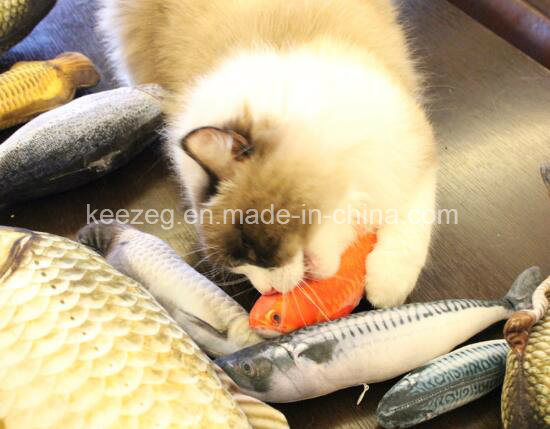 2017 New Highly Recommended Pet Plush Stuffed Cat Toy with Catnip (KB3003) pictures & photos