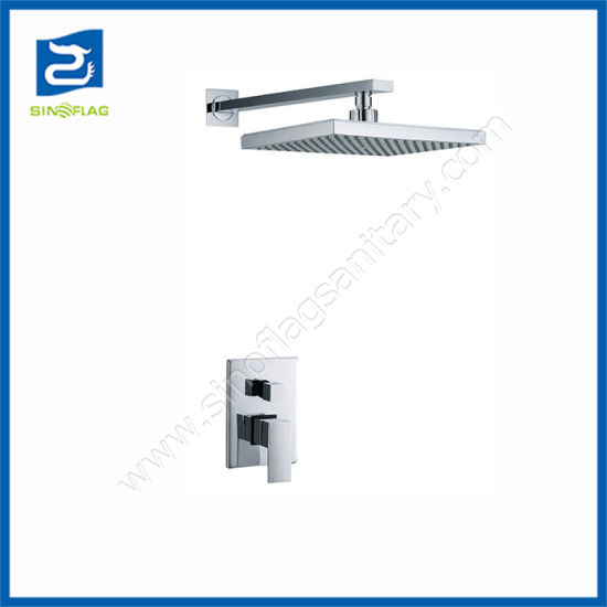 """in Wall Mounted Concealed Shower Set with 8"""" Square ABS Head Shower"""