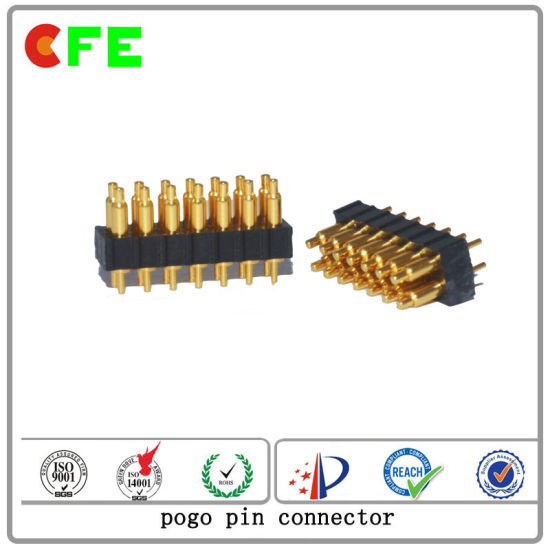 Satellite Communication Terminal 14pin Spring Loaded Pogo Pin Connector