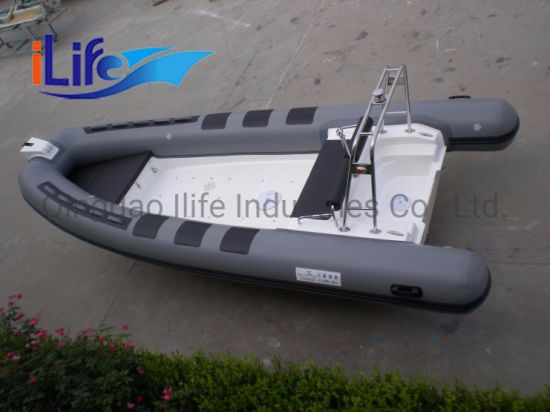 Ilife 5.4m China Ce Approval Fiberglass Rigid Inflatable Boat Rib 540 Yacht with Cheap Price